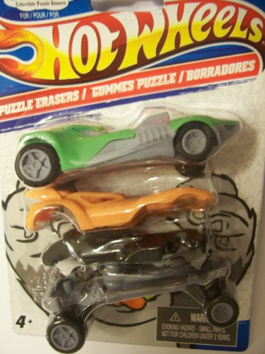 Hot Wheels X CrazErasers: Collectible Puzzle Erasers Series #1 [C97720W]