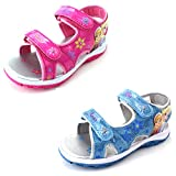 Disney Frozen Elsa Anna Girls Lighted Sport Sandals Shoes