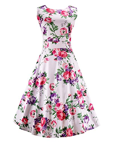 Dreagal Sleeveless Cotton Vintage Tea Dress