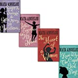Image of Maya Angelou Collection 4 Books Set, (I Know Why the Caged Bird Sings, Singin' & Swingin' and Gettin' Merry Like Christmas and The Heart of a Woman, Gather Together in My Name)