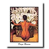 Diego Rivera Lady Lilies Flower Contemporary Home Decor Wall Picture 16x20 Art Print