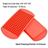 Mini Ice Cubes, Wootop 100% Food Grade Silicone Ice Cube Trays Candy Molds, 3/8'' 160 Frozen Mini Cubes Keep Cool...