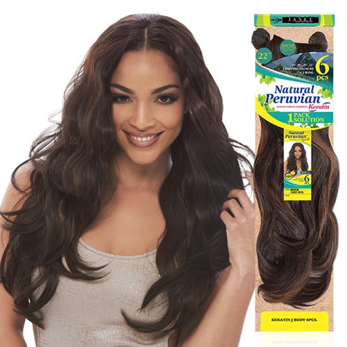 Janet-Collection-Synthetic-Hair-Weave-Noir-Natural-Peruvian-Keratin-J-Body-Wave-6Pcs