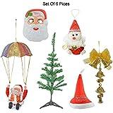 Reiki Crystal Products Beautiful Santa Claus Mask, Santa Claus Cap, Little Hanging Santa Claus, Christmas Tree...