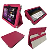 IGadgitz Pink 'Portfolio' PU Leather Case Cover for Samsung Galaxy Tab P7500 P7510 10.1 3G & WiFi Android 3.1 Honeycomb Internet Tablet