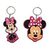 Disney Minnie Mouse Laser Cut Keychain- Head Rubber Keyring