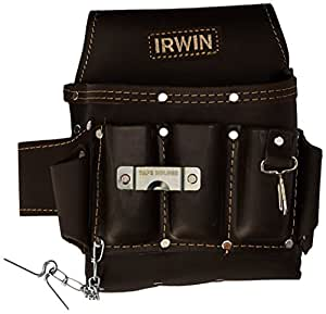 irwin tools tanned leather electrician s pouch