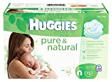 Huggies Pure & Natural Diapers, Newborn, 72 Count Style: Newborn Size: 72 Count Infant, Baby, Child