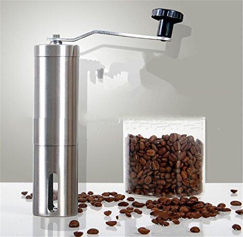 Eleoption 手挽きコーヒーミル 調節できる ミニ ミル  マメ ミル コーヒーメーカー