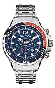 Nautica A26535G Mens NST 02 Silver Chronograph Watch