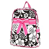 Belvah Quilted Flower Print Zippered Backpack