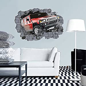3D Vivid Wall Stick Wall Decals Elephant Walks Out off the Wall