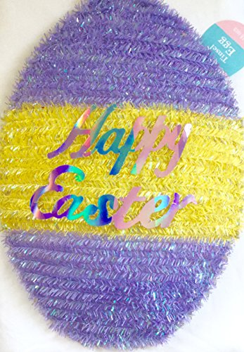 Easter Egg Shaped Tinsel Decoration - 1