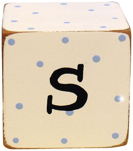 New Arrivals Letter Block S, Blue/White - 1