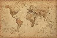 World Map (Antique) Art� 24×36 Poster