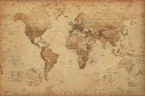 GB eye Ltd, World Map, Antique, Maxi Poster, (61 x 91.5 cm), GN0430