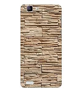 EPICCASE Pebble brick wall Mobile Back Case Cover For Vivo X 3s (Designer Case)