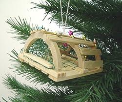 Coastal Nautical Wooden Lobster Trap Christmas Holiday Ornament
