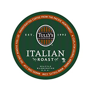 Tully's Coffee Italian Roast, K-Cup Portion Pack for Keurig K-Cup Brewers 24-Count by Tully's Coffee
