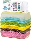 EMSA 509388 Brotdose VARIABOLO Clipbox, Farb-Set mit 6 Halb-Schalen / 3 Clipboxen 16 x 11 x 7 (spülmaschinenfest, BPA frei)