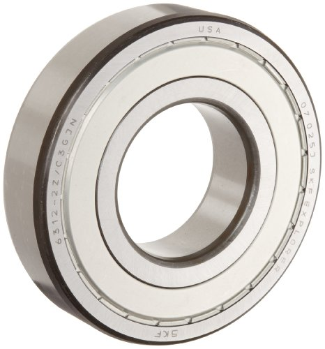 SKF 6316 2ZJEM Medium Series Deep Groove Ball Bearing, Deep Groove Design, ABEC 1 Precision, Double Shielded, Non-Contact, Steel Cage, C3 Clearance, 80mm Bore, 170mm OD, 39mm Width, 19500lbf Static Load Capacity, 27900lbf Dynamic Load Capacity