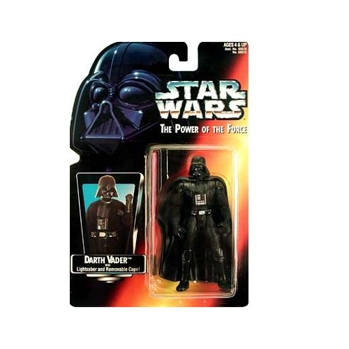 Star Wars: Power of the Force Red Card Darth Vader with Long Lightsaber Action Figure - 1