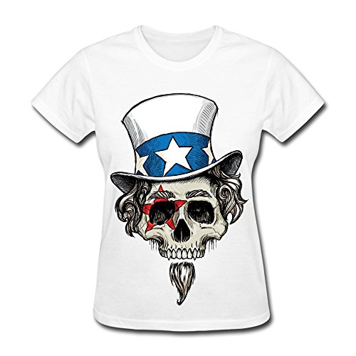 ZWSY Women's Tshirts Cool And Funny Skull Design Size S White (Razor Scooter Ninja Turtles compare prices)