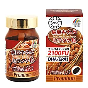 ユニマットリケン 納豆キナーゼヒラタケ粒 36.54g(406㎎×90粒)45日分
