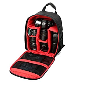 Potable Mini Camera photography Backpack SLR Outdoor Hiking Camera Bag for photographer Waterproof for Canon Nikon Sony Olympus Samsung Panasonic Pentax and Mirrorless Cameras