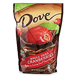 Dove Whole Dried Cranberries Dipped in Creamy Dove Dark Chocolate: 2 Bags of 26 Oz – Sms19