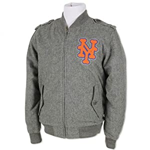 MLB New York Mets Mitchell & Ness Cutter Track Jacket Cooperstown Mens Small by Mitchell & Ness