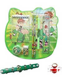 Ethnic Rakhi Latest Cartoon Character Ben-10 Stylish Stationery Kit Rakhi Gift And Wrist Band Kids Rakhi Kids_Ben...