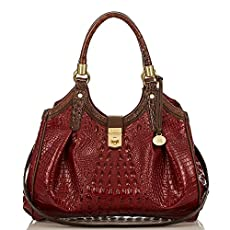 Elisa Hobo Bag<br>Carmine Red Tri-Texture