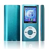 Lonve Music Player 16GB MP4/MP3 Player Blue 1.82 Screen MP3 Music/Audio/Media Player with FM Radio
