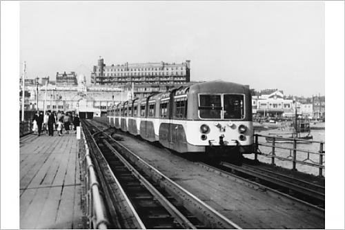 Photographic Print Of Pier Train/Southend