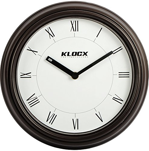 Klocx Plastic Fancy Premium Simple Wall Clock (Wck-51, Brown, 22.8 Cm) For Home and Office