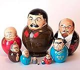 Nesting dolls Stalin Lenin Khrustchev Brezhnev Chernenko Ustinov Gorbachev Eltsyn Medvediev Putin Russian Political Leaders matryoshka russian doll nested stacking dolls matrioshka babushka