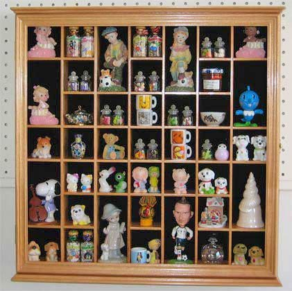 Collectible Display Case Wall Curio Cabinet Shadow Box, with glass ...