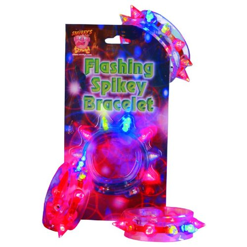 Smiffys Bracelet, Flashing Spikey, Assorted Colo