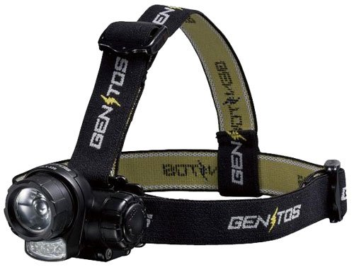 GENTOS(ジェントス) LEDヘッドライト 【明るさ80ルーメン/実用点灯10時間】 HLX-339