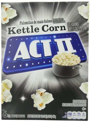 Act Ii Popcorn, Kettle Corn, 6 Count (Pack Of 6) front-63675
