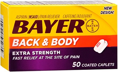 Bayer Extra Strength Caplets, Extra Strength Back & Body Pain Aspirin, 50 ct (Bayer Extra Strength compare prices)