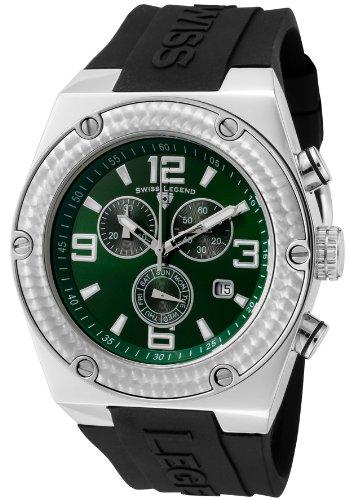Swiss Legend Men's 30025-08 Throttle Chronograph Green Dial Watch