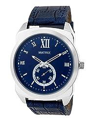 Matrix Analog Blue Dial Chronograph Men's Watch-DK-BL