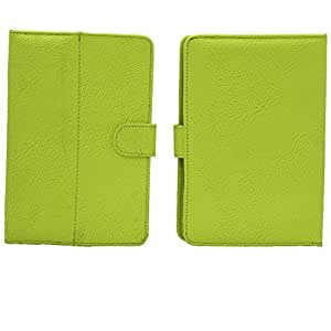"7&Seven G8 SOFT LEATHER FLIP FLAP CASE COVER POUCH CARRY STAND FOR HCL ME U2 TAB TABLET 7"" GREEN"