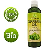 Pure Grape Seed Oil Extract Cold Pressed Extraction Moisturizing Antioxidant Oil for Skin Hair and Nails Great for Massage Anti Aging Face Moisturizer Hair Serum With Vitamins E C D for Women and Men