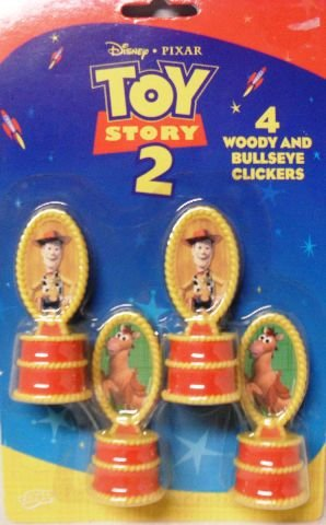 Disney Pixar Toy Story 2 (4) Woody and Bullseye Clickers - 1