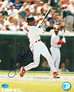 Sandy Alomar Jr. Autographed Hand Signed 8x10 Photo (Cleveland Indians) Image SC1 by Hall+of+Fame+Memorabilia