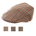 NEW TWEED COUNTRY FLAT CAP 6 SIZES AV...