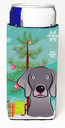 carolines-treasures-christmas-tree-and-weimaraner-michelob-ultra-koozies-for-slim-cans-multicolor-by